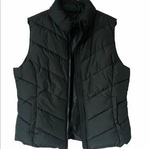 Women's Aeropostale Puffer Down Green Vest Size XL
